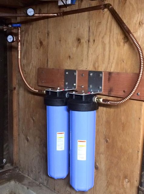 Compact Whole House Cartridge Style Filter Installation